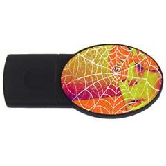 Orange Guy Spider Web Usb Flash Drive Oval (2 Gb) by Simbadda