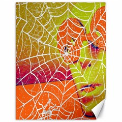 Orange Guy Spider Web Canvas 18  X 24   by Simbadda