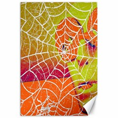 Orange Guy Spider Web Canvas 20  X 30   by Simbadda