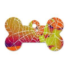 Orange Guy Spider Web Dog Tag Bone (two Sides) by Simbadda