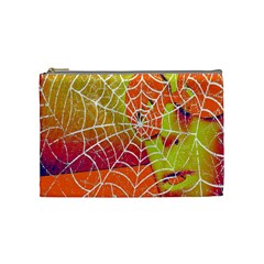 Orange Guy Spider Web Cosmetic Bag (medium)  by Simbadda