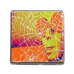 Orange Guy Spider Web Memory Card Reader (square) by Simbadda