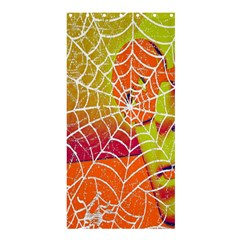Orange Guy Spider Web Shower Curtain 36  X 72  (stall)  by Simbadda
