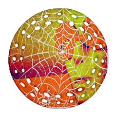 Orange Guy Spider Web Ornament (round Filigree) by Simbadda