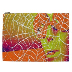 Orange Guy Spider Web Cosmetic Bag (xxl)  by Simbadda