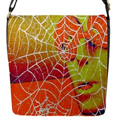 Orange Guy Spider Web Flap Messenger Bag (s) by Simbadda