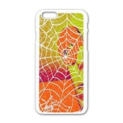 Orange Guy Spider Web Apple Iphone 6/6s White Enamel Case by Simbadda