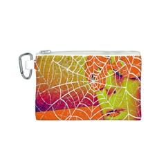 Orange Guy Spider Web Canvas Cosmetic Bag (s) by Simbadda