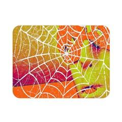 Orange Guy Spider Web Double Sided Flano Blanket (mini)  by Simbadda