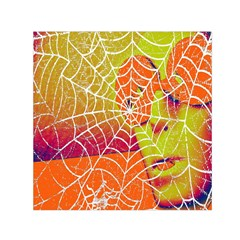 Orange Guy Spider Web Small Satin Scarf (square) by Simbadda
