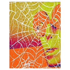 Orange Guy Spider Web Drawstring Bag (large) by Simbadda