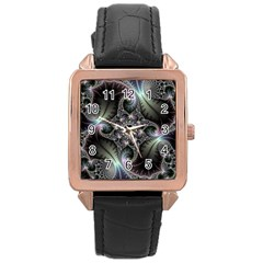 Beautiful Curves Rose Gold Leather Watch  by Simbadda