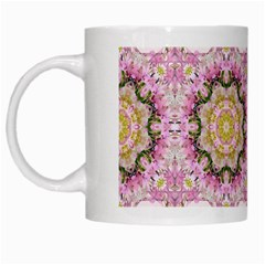 Floral Pattern Seamless Wallpaper White Mugs by Simbadda