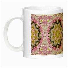 Floral Pattern Seamless Wallpaper Night Luminous Mugs by Simbadda