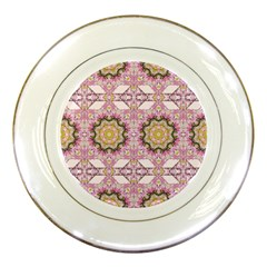 Floral Pattern Seamless Wallpaper Porcelain Plates by Simbadda