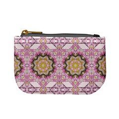 Floral Pattern Seamless Wallpaper Mini Coin Purses by Simbadda