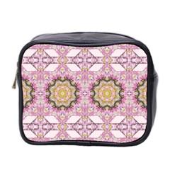Floral Pattern Seamless Wallpaper Mini Toiletries Bag 2 Side by Simbadda