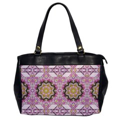 Floral Pattern Seamless Wallpaper Office Handbags by Simbadda