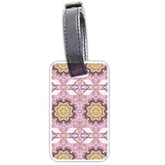 Floral Pattern Seamless Wallpaper Luggage Tags (two Sides) by Simbadda