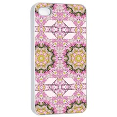 Floral Pattern Seamless Wallpaper Apple Iphone 4/4s Seamless Case (white) by Simbadda