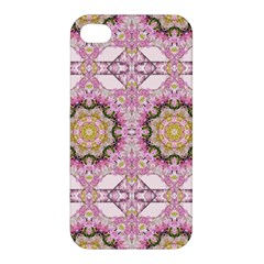 Floral Pattern Seamless Wallpaper Apple Iphone 4/4s Hardshell Case by Simbadda