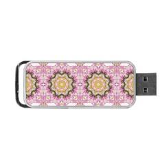 Floral Pattern Seamless Wallpaper Portable Usb Flash (two Sides) by Simbadda