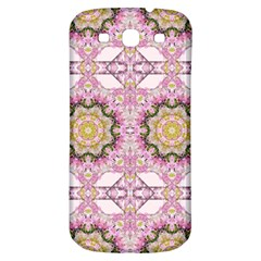 Floral Pattern Seamless Wallpaper Samsung Galaxy S3 S Iii Classic Hardshell Back Case by Simbadda