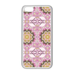 Floral Pattern Seamless Wallpaper Apple Iphone 5c Seamless Case (white) by Simbadda