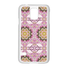 Floral Pattern Seamless Wallpaper Samsung Galaxy S5 Case (white) by Simbadda