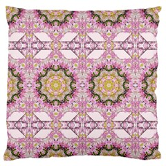 Floral Pattern Seamless Wallpaper Large Flano Cushion Case (one Side) by Simbadda