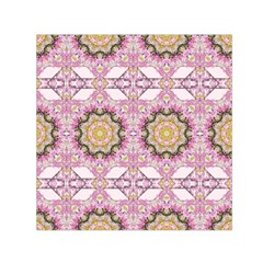 Floral Pattern Seamless Wallpaper Small Satin Scarf (square)