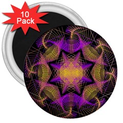 Pattern Design Geometric Decoration 3  Magnets (10 Pack)  by Simbadda