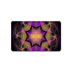 Pattern Design Geometric Decoration Magnet (name Card) by Simbadda