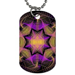 Pattern Design Geometric Decoration Dog Tag (two Sides) by Simbadda