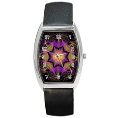Pattern Design Geometric Decoration Barrel Style Metal Watch by Simbadda