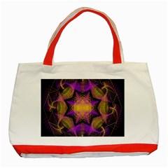 Pattern Design Geometric Decoration Classic Tote Bag (red) by Simbadda