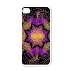 Pattern Design Geometric Decoration Apple Iphone 4 Case (white) by Simbadda