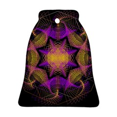 Pattern Design Geometric Decoration Bell Ornament (two Sides) by Simbadda