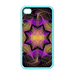Pattern Design Geometric Decoration Apple Iphone 4 Case (color) by Simbadda