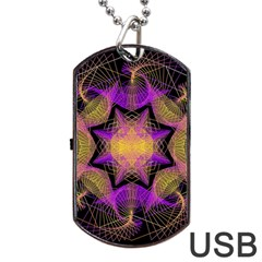 Pattern Design Geometric Decoration Dog Tag Usb Flash (one Side) by Simbadda