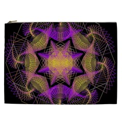 Pattern Design Geometric Decoration Cosmetic Bag (xxl)  by Simbadda