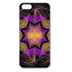 Pattern Design Geometric Decoration Apple Seamless Iphone 5 Case (clear) by Simbadda
