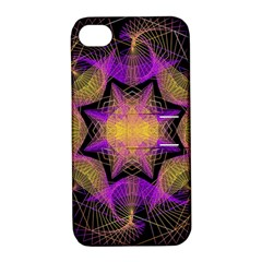 Pattern Design Geometric Decoration Apple Iphone 4/4s Hardshell Case With Stand by Simbadda