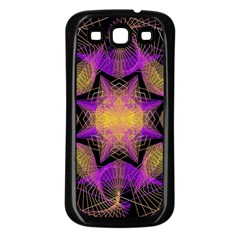 Pattern Design Geometric Decoration Samsung Galaxy S3 Back Case (black) by Simbadda