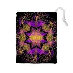 Pattern Design Geometric Decoration Drawstring Pouches (large)  by Simbadda