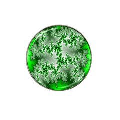 Green Fractal Background Hat Clip Ball Marker (10 Pack) by Simbadda