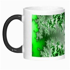 Green Fractal Background Morph Mugs by Simbadda