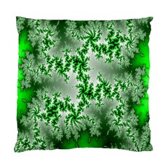 Green Fractal Background Standard Cushion Case (two Sides) by Simbadda