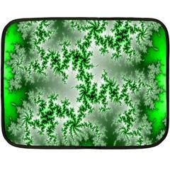 Green Fractal Background Fleece Blanket (mini) by Simbadda