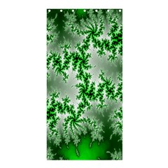 Green Fractal Background Shower Curtain 36  X 72  (stall)  by Simbadda
